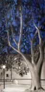 arbre jardin de ville bleu