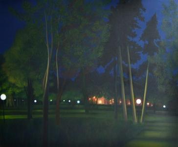 Forêt urbaine, huile sur châssis toilé, 120X100 cm
