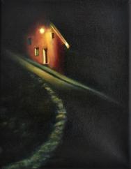 Foyer, huile, 14x21 cm