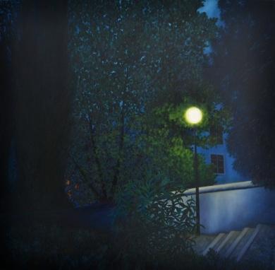 Palier lumineux, 80x80 cm