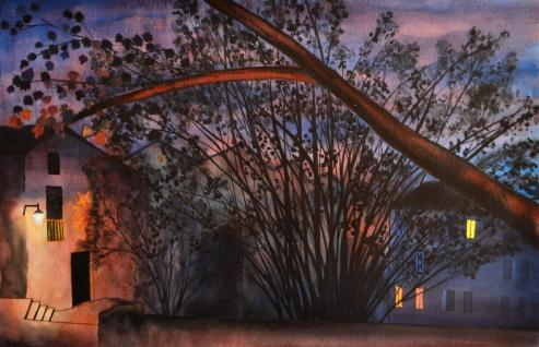 Porche de Chalmont, 40 x 24 cm