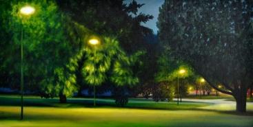 Verte Lumière, huile, 40x20 cm