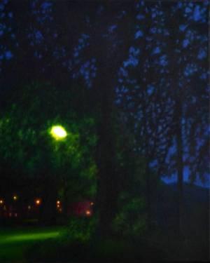 Entre nature et culture, huile, 46x38 cm