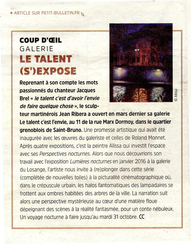 Petit Bulletin octobre 17