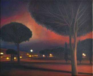 Promenade méditerranéenne, huile, 38x46 cm