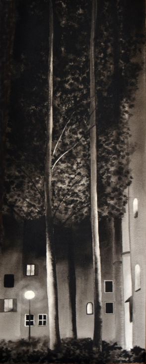 Couple, encre de Chine, 20x49 cm
