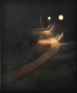 Chemin, huile, 25x35 cm