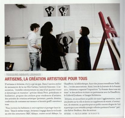 artiSens les nouvelles de Grenoble mai 2011 recadré